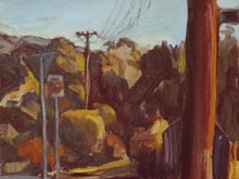 Corner Old South and Sheaff 2013 35x30cm